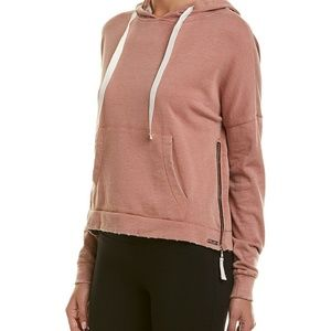 Betsey Johnson Performance Hoodie Sz L Distressed